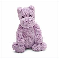 Bashful Hippo Lilac Medium 12""