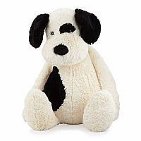 Bashful Puppy Black & Cream Large 15""