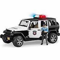 Jeep Wrangler Police Car with Policeman