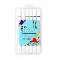 12 Thick & Thin Markers