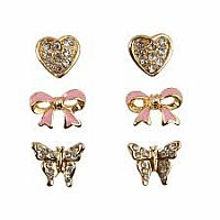 Boutique Dazzle Studded Earring set of 3