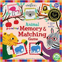 Pre-school Animal Memory Matching Game