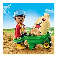 1 2 3 Construction Worker with Wheelbarrow