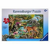 60 pc Animals in India Puzzle