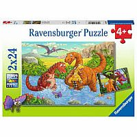 Dinosaurs At Play 2x24 pc puzzle