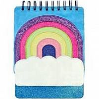Rainbow Glitter Journal